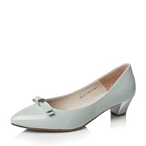 Belle/百丽秋专柜同款漆皮牛皮优雅通勤女单鞋BIO15CQ6