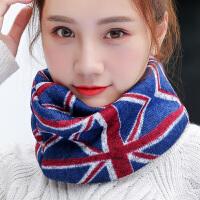 围巾脖套女冬季百搭学生保暖加厚两用毛线围脖女冬季套头针织韩版