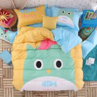 全棉个性棉四件套床单被套活性大版花卡通床上用品