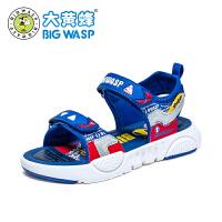 【1件5折�r:85元】大�S蜂�和��鲂� 男童夏季�底鞋子2020新款中小童�r尚�n版沙�┬�