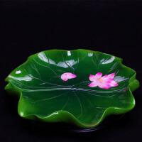 禅意莲花陶瓷供果果盘客厅茶几水果盘干果盘摆件
