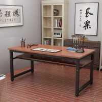 简易电脑桌书桌书法桌双层办公桌课桌简约现代书画桌子画台写字台