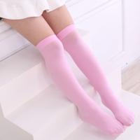 春夏薄款儿童中筒袜学生女童过膝袜高筒袜长筒袜男童足球袜子纯棉