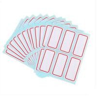 得力7182标签贴纸不干胶自粘性标贴姓名贴分类贴 6张/本