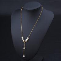 天然珍珠lucky珠14k包金保色多种佩戴方式项链