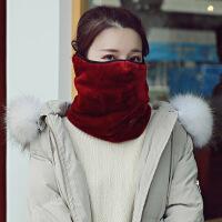 加厚加绒秋冬保暖口罩耳罩围脖一体亲子款骑车护颈防寒面罩女儿童