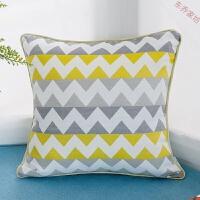 简约现代几何条纹抱枕可拆洗布艺沙发靠垫靠枕套不含芯60*60