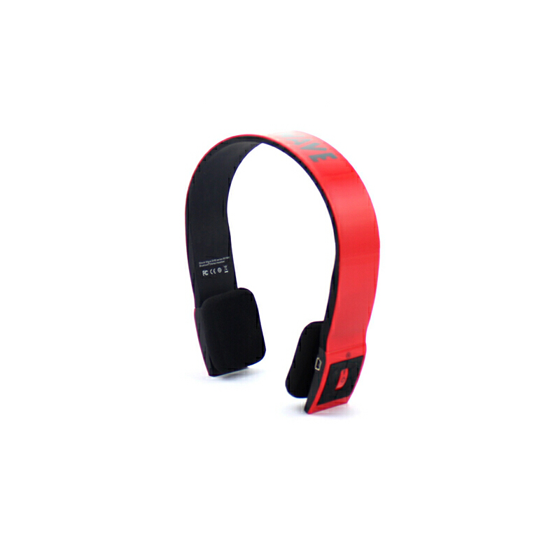 shockwave冲击波 SHB-901BH 蓝牙置麦可通话 有线无线双用耳机 亮红色头戴式HiFi立体声内置麦可通话