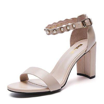 Belle/百丽夏季专柜同款牛皮革女皮凉鞋R3I1DBL7