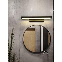 北欧浴室镜前灯led卫生间镜灯现代简约梳妆灯具洗手间防水墙壁灯 90CM-砂黑- 36w-白光