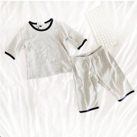 儿童睡衣夏男女童家居服套装棉薄款中小童空调服短袖童装夏装