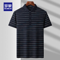 【2折预估到手价:128叠券更优惠】罗蒙男士纯棉POLO衫2021夏季薄款商务休闲T恤衫上衣