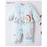 婴儿连体衣冬款加厚哈衣0-1-2岁男女宝宝爬服新生儿衣服手工棉花