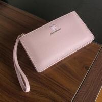 日韩版女士钱包女长款小清新手拿包薄款大容量2018新款拉链手机包