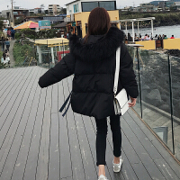ins面包女冬短款韩版宽松小个子学生加厚大毛领棉衣外套