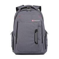 瑞士军刀旅行背包书包防水面料男士双肩包15.6寸电脑包经典