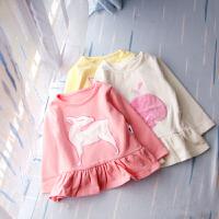 【女童装连衣裙春秋纯棉女宝宝婴儿长袖修身连衣裙