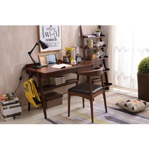 N空间 开放漆实木书桌1.2m双抽 日式北欧现代小户型 家用电脑桌椅长条写字办公桌