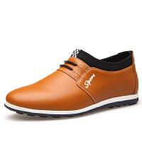 波图蕾斯当季新款男士增高鞋隐形内增高男鞋6CM商务休闲鞋圆头厚底增高皮鞋