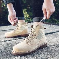 马丁靴男靴子英伦风雪地工装沙漠靴男士百搭高帮男鞋短靴潮