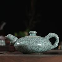 正品龙泉古韵青瓷紫砂壶全手工茶壶 陶瓷功夫茶具竹韵壶泡茶壶