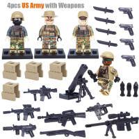 军事系列阿富汗战争火箭炮兵手防空兵兼容乐高积木玩具