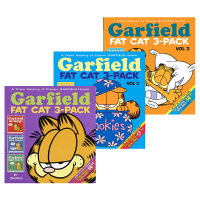 加菲猫 英文原版 漫画3卷 Garfield Fat Cat Volume 1-3 儿童英语读物 吉姆戴维斯 英文版
