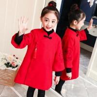 女童唐装冬儿童新年装宝宝民簇风古装过年衣服女孩中国风童装汉服