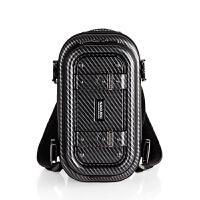 运动包女双肩包背包健身包男手提旅行包行李包旅行袋摄影包 黑色碳纤维 小