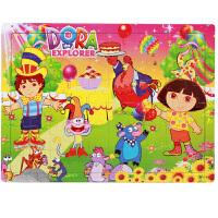 60片儿童拼图木质宝宝男孩女孩子2-3-4-5-6-7周岁积木力玩具 60片朵拉郊游
