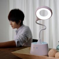 创意空气净化器台灯二合一时尚可爱充电LED小台灯学生护眼学习办公室台灯空气净化器负离子台灯
