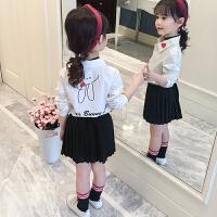 女童衬衣春装新款韩版洋气上衣中大童纯棉打底衫儿童白衬衫潮