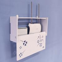 客厅木塑板路由器架子创意简约墙壁置物架卧室壁挂隔板挂墙收纳架
