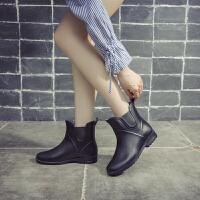 春夏时尚雨鞋女百搭雨鞋女短筒水靴雨丁靴套加绒保暖防滑水鞋