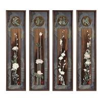 中式装饰画客厅现代中国风壁饰沙发后背景墙实木雕刻浮雕画玉雕画 35*135 / 40*160