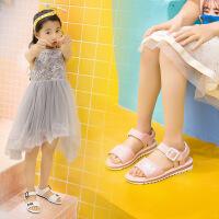 女童凉鞋2019夏季新款真皮儿童凉鞋沙滩鞋韩版中大童女学生公主鞋