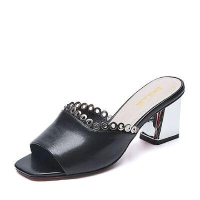 Belle/百丽夏专柜同款羊皮革女皮凉鞋R3U1DBT7
