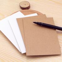 水彩卡片纸DIY空白明信片 单词卡手绘贺卡牛皮纸卡片荷兰白卡