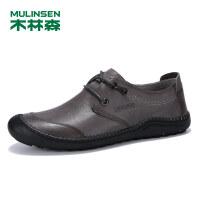 木林森男士休闲鞋真皮户外时尚板鞋SS97308