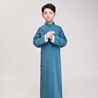 2018新款新款儿童相声服民国长衫长袍大褂男童古装民国学生装舞台六一儿童节演出服装