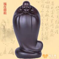 非洲木雕五福临门弥勒佛摆件笑佛弥勒佛像福在眼前木质工艺品