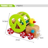 婴幼儿童木制拖拉玩具车会跑小狗鳄鱼手拉线拉绳学步车宝宝1-3岁