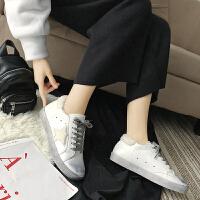 乌77百搭炒火星星鞋加绒网红毛毛鞋冬韩版系带套脚圆头平底帆布鞋