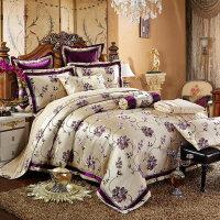 欧式3D色织大提花全棉四件套床盖婚庆床品纯棉六八件套1.8m2.0米
