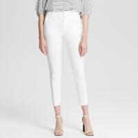 【1件3折价:68.7,可叠券】MECITY女装工装风简约纯色修身弹力西裤
