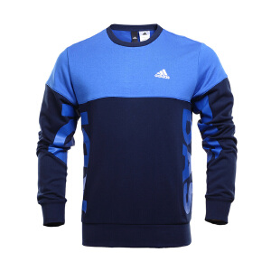 Adidas阿迪达斯 2017新款男子运动休闲针织卫衣套衫 BR1571