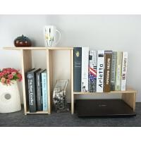 办公室置物架桌面收纳架子实木质简易组合伸缩小型儿童桌上小书架