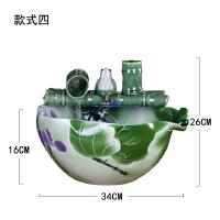 陶瓷流水客厅摆件水景招财鱼缸雾化加湿器创意喷泉乔迁开业礼品