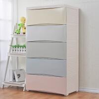 宝宝衣柜大号塑料儿童收纳柜抽屉式储物柜5层斗柜婴儿整理柜子抖音同款