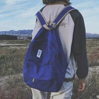 双肩包女2018新款大学生书包帆布背包